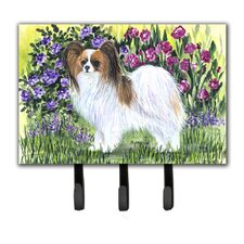 Papillon Leash Holder and Key Hook by Caroline's Treasures