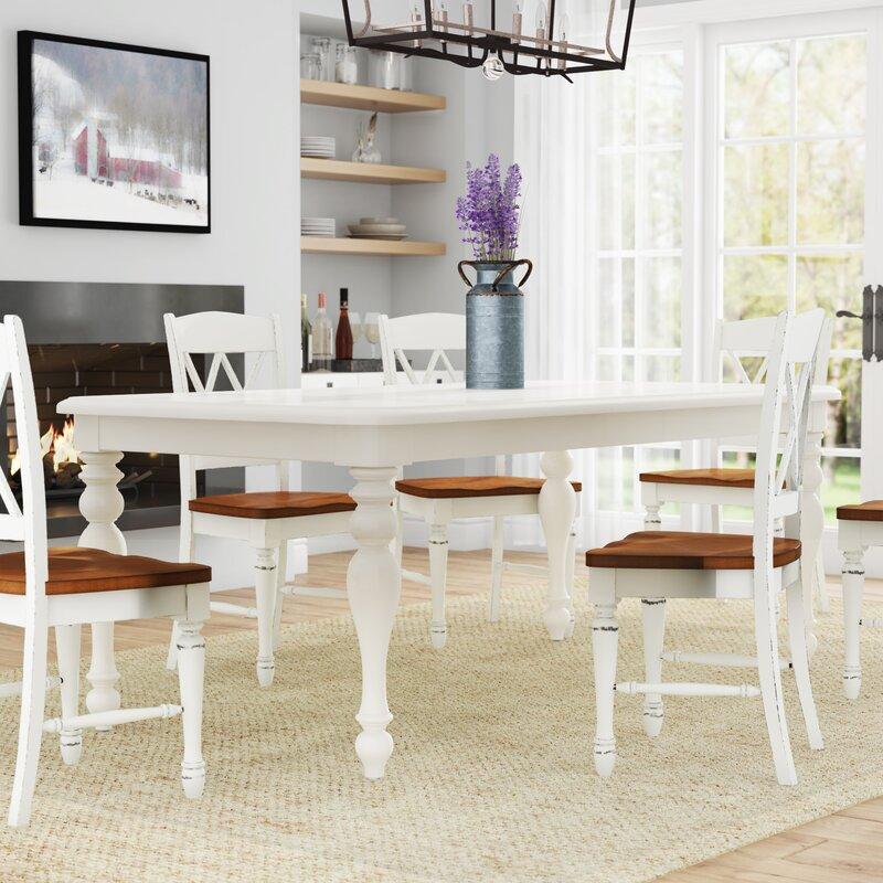 Alcott Hill Hardcastle Extendable Dining Table Reviews Wayfair