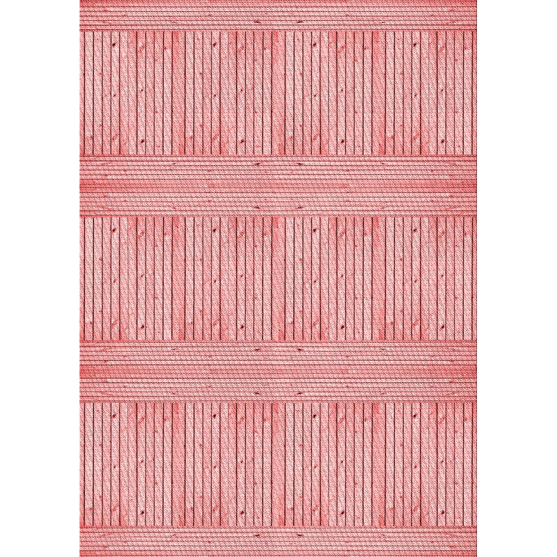 East Urban Home Striped Wool Pink Area Rug Wayfair