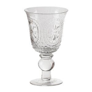 Mcpherson 15 Oz. Pressed Glass Goblet (Set of 8)