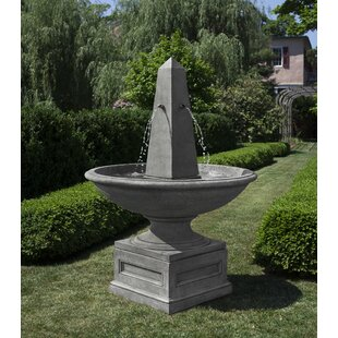 Campania International Condotti Concrete Obelisk Fountain