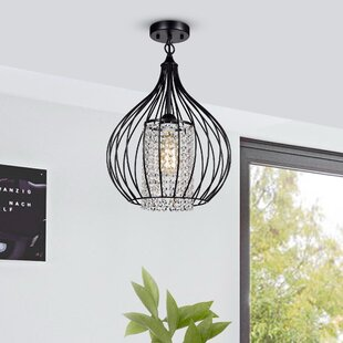 Benedick 1-Light Semi Flush Mount by House of Hampton