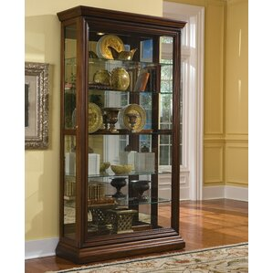 Purvoche Lighted Curio Cabinet by Darby Home Co