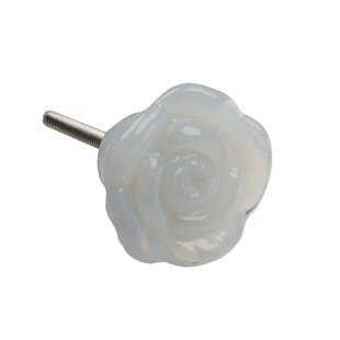 India Glass Flower Cabinet Novelty Knob (Set of 10)