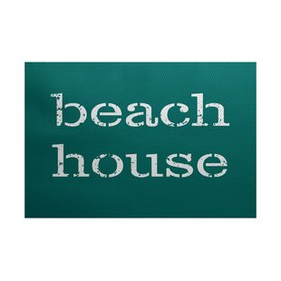 Cedarville Beach House Teal Indoor/Outdoor Area Rug