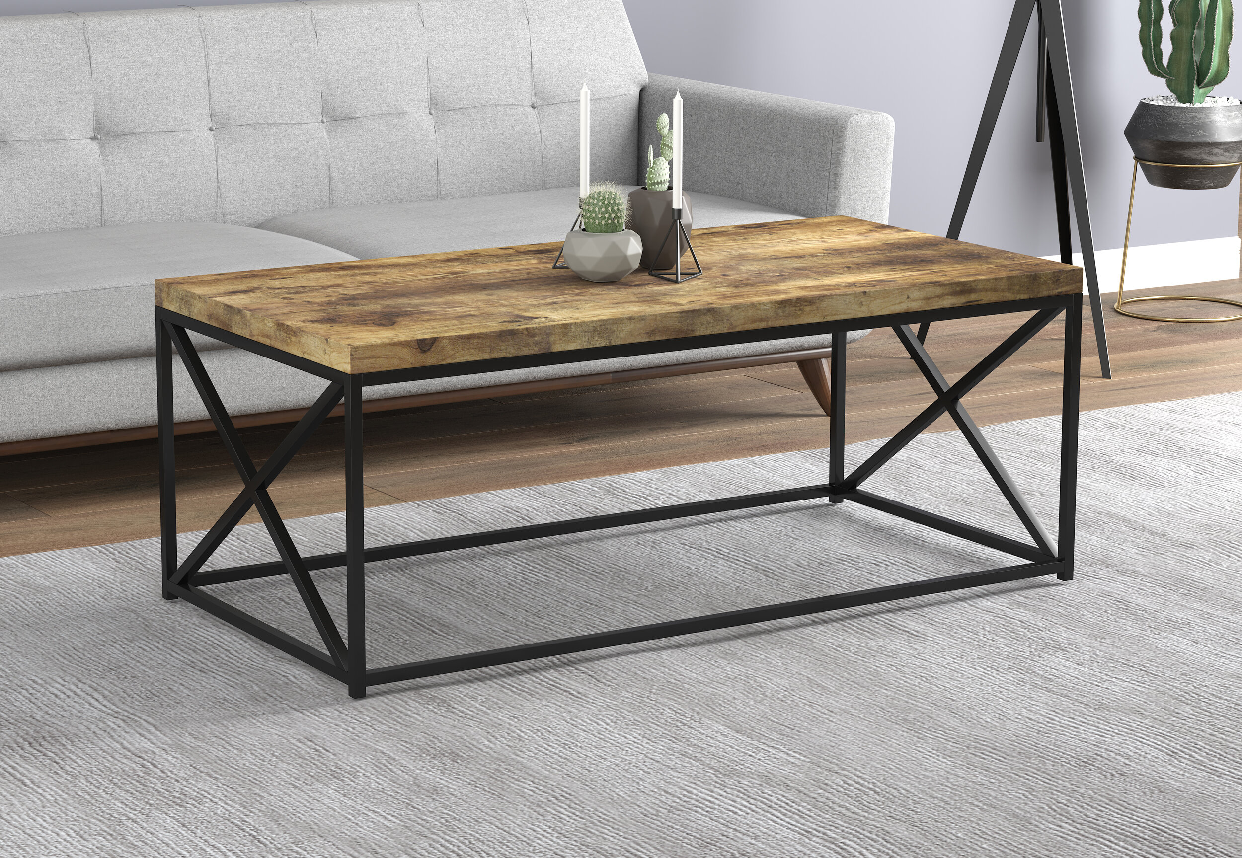 17 Stories Knapp Coffee Table With Tray Top Wayfair