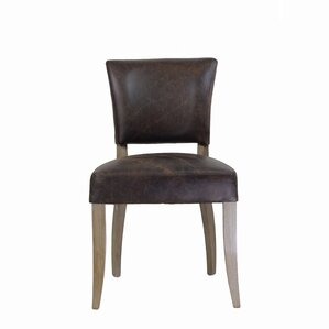 Adele Genuine Leather Upholstered Dining Chair by Design Tree Home