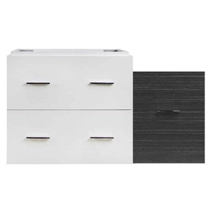 Xena Wall Mount Plywood-Veneer 37 Single Bathroom Vanity Base by American Imaginations