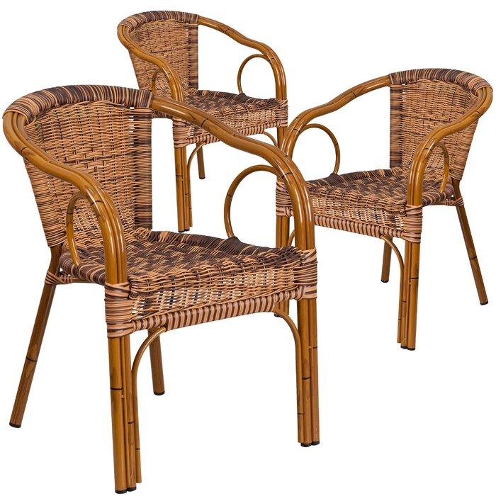 Keyla Rattan Restaurant Patio Chair