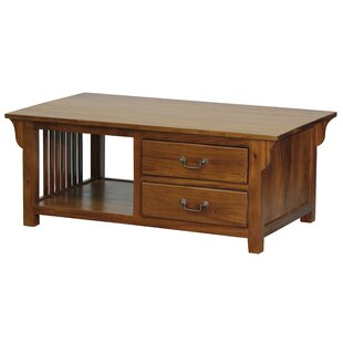 Marseilles Fine Handcrafted Solid Mahogany Wood Coffee Table by NES Furniture
