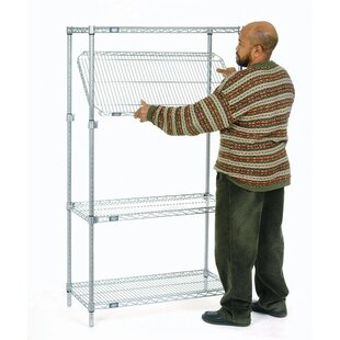 Nexel E-Z Adjust Wire 4 Shelf Shelving Unit Starter