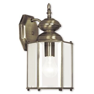 Alcott Hill Brussels Traditional 1-Light Outdoor Wall Lantern