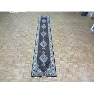Best Price One-of-a-Kind Beaton Hand-Knotted Black Area Rug By Isabelline