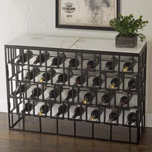 Marble Console 28 Bottle Floor Wine Rack