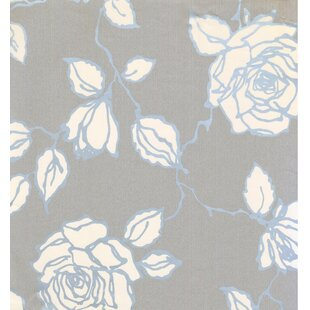 Floral Prepasted 33' L x 21 W Distressed Wallpaper Roll by York Wallcoverings