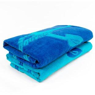 Makenna Superior Fisherman Anchor 2 Piece Egyptian Quality Cotton Beach Towel Set