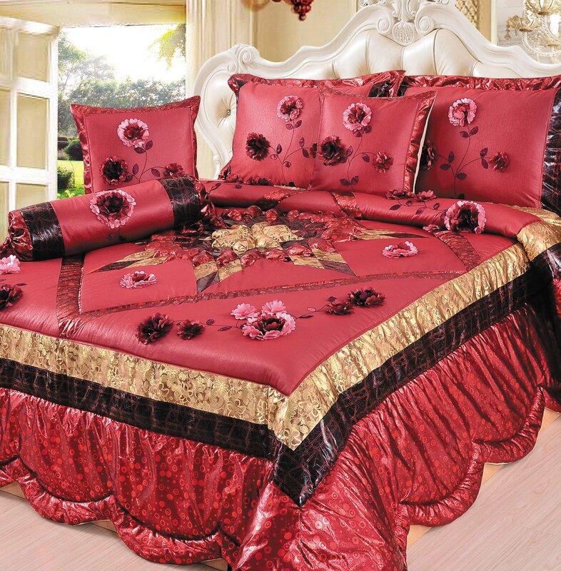 patchwork p multi prairie blooming quilt cotton set cool bedding comforter