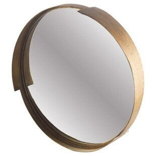 1f438a8fe9d Cabe Round Metal Frame Accent Wall Mirror