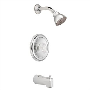 Moen Chateau Tub and Shower Faucet with Knob Handle and Posi-Temp