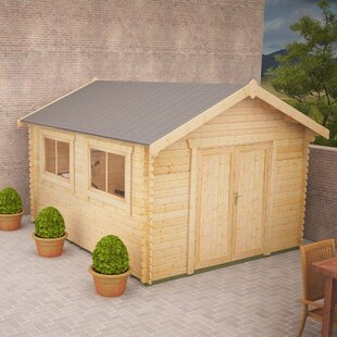 Javan 8 X 12 Ft. Tongue And Groove Log Cabin By Tiger Sheds
