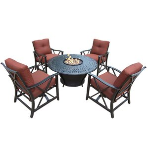 charleston 6 piece fire pit seating group with cushions