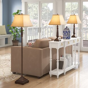 Soliz 3 Piece Table and Floor Lamp Set