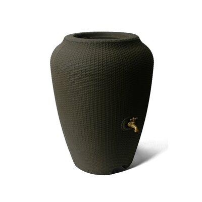 Wicker 50 Gallon Rain Barrel Algreen Color: Chocolate Mocha