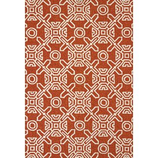 Maui Hand-Woven Terracotta Indoor/Outdoor Area Rug