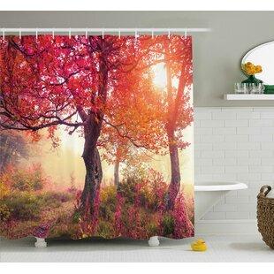 Reviews Bleeker Decor Flowers Park Nature Shower Curtain ByWinston Porter