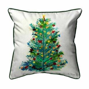 Francesca Christmas Tree Outdoor Throw Pillow