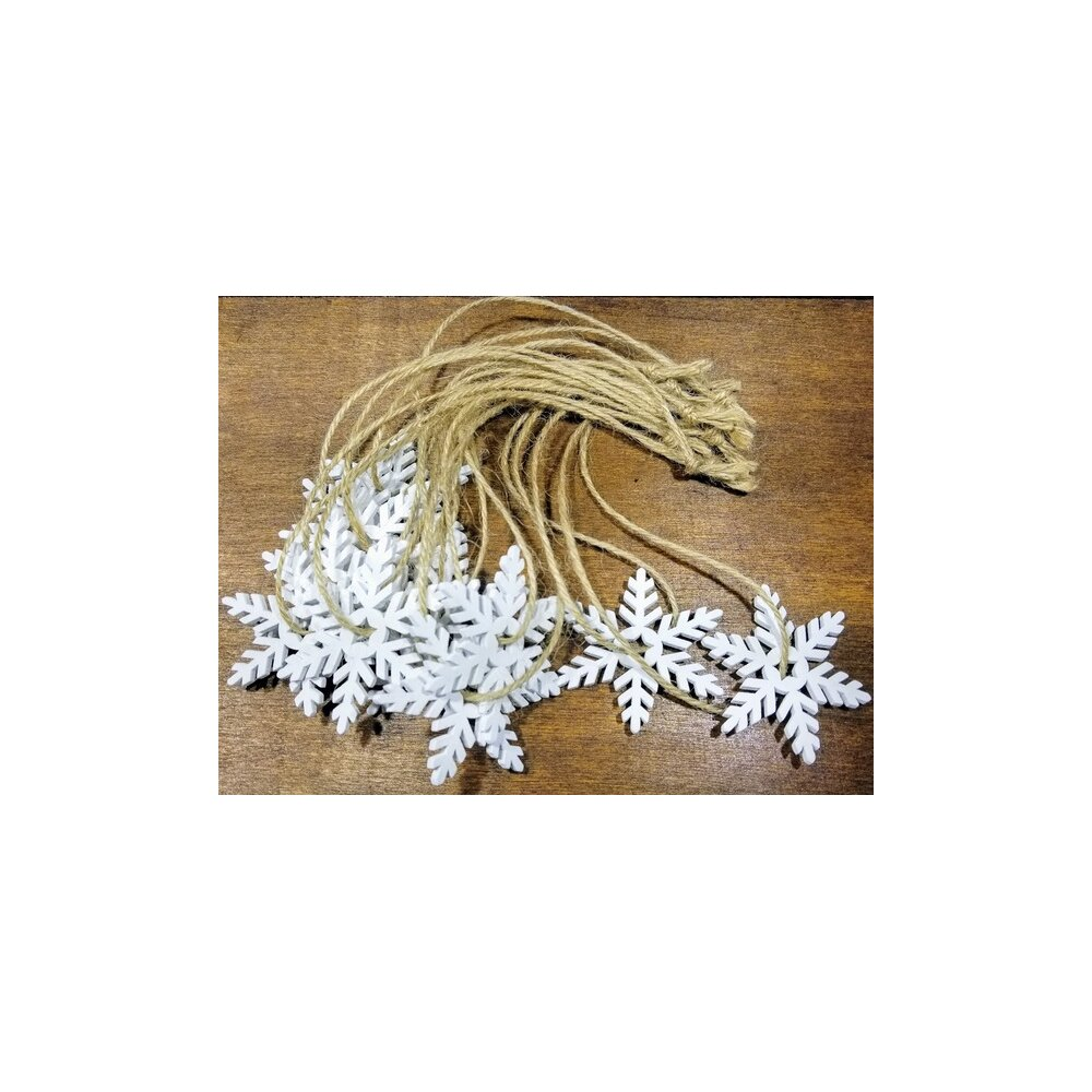 The Holiday Aisle Wooden Snowflake Hanging Figurine Reviews Wayfair