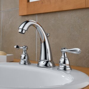 Windemere Widespread Double Handle Bathroom Faucet with Drain Assembly