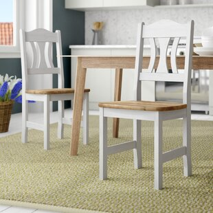 Kristel Solid Wood Dining Chair (Set Of 2) By Rosalind Wheeler
