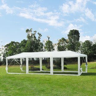 10 Ft. W x 30 Ft. D Metal Pop-Up Party Tent by Outsunny
