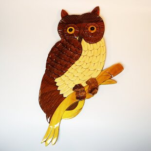 decor Wall art Amazing gift. Unique multi layer wooden owl