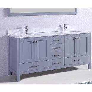 Pichardo 78 Transitional Double Bathroom Vanity Set by Brayden Studio