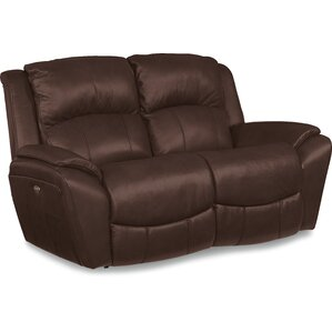 Barrett Leather Reclining Loveseat by La-Z-Boy