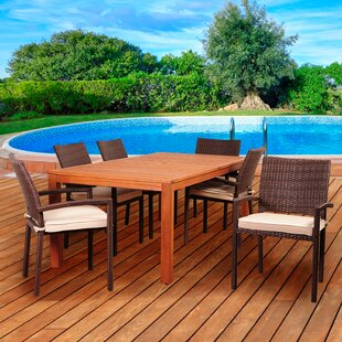Beachcrest Home Arango 7 Piece Dining Set..