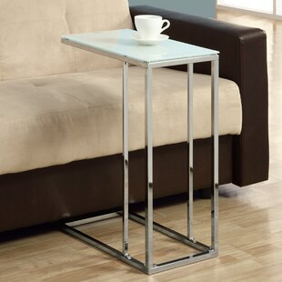 Savings Frosted Tempered Glass End Table By Monarch Specialties Inc.