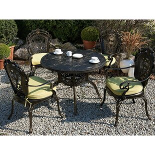 Fraire 4 Seater Dining Set With Cushions And Parasol By Astoria Grand