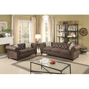 Lamonica 2 Piece Living Room Set