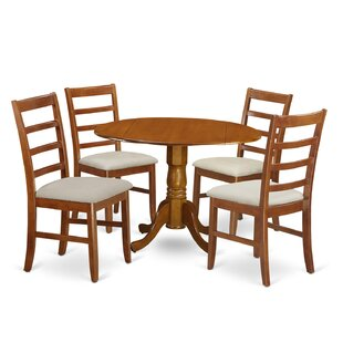 Spruill 5 Piece Drop Leaf Solid Wood Dining Set by August Grove Modern