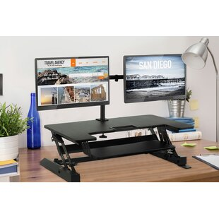 Sit-Stand Standing Desk Converter by Mount-it Great Reviews