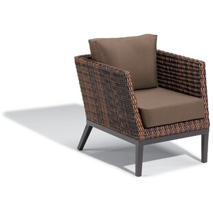 Cammack Woven Patio Chair With Cushions by George Oliver Wonderful