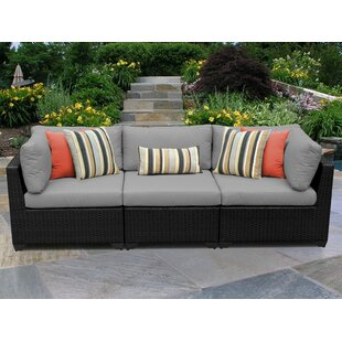Meier Patio Sofa with Cushions by Rosecliff Heights
