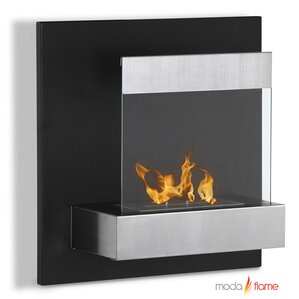 Madrid Wall Mount Ethanol Fireplace by Moda Flame