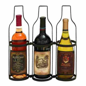 3 Bottle Tabletop Wine Rack by ABC Home C..