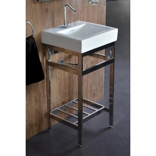 Ivy Bronx Arverne Stainless Steel Open Console 18
