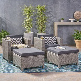 Abramson Patio Chair with Cushion (Set of 2)