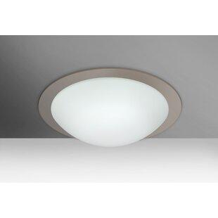 Besa Lighting Ring 1-Light Outdoor Flush Mount